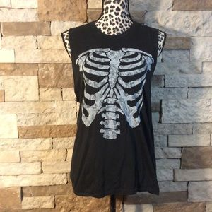 Brandy Melville Skeleton Tee
